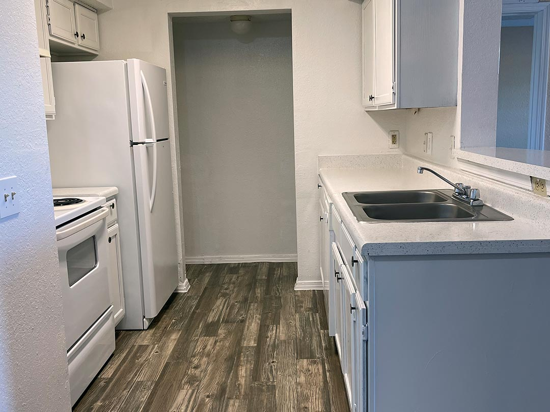 Photo Of A Nice Apartment Kitchen Sink Counter.